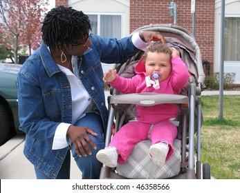 African American Biracial Family