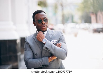 African american business model in suit