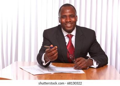 African American businessman