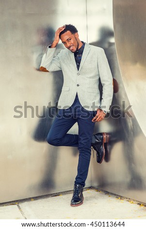 African American Businessman Semi Formal Fashion New Stock Photo
