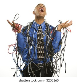 tangled wires images stock photos vectors shutterstock rh shutterstock com House Wiring Bad Network Wiring