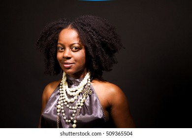 African American confident woman.