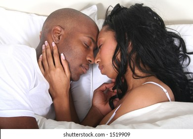 African American Couple - Married People - Lovers