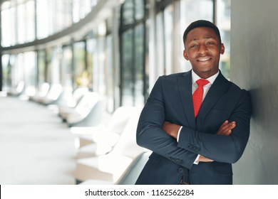 african american executive business man at the workspace office