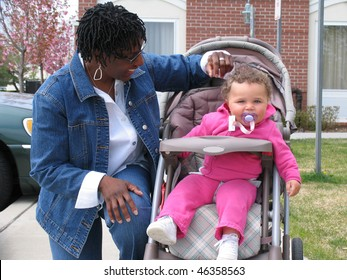 African American Family Think Pink