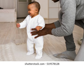 African American Father And Baby Boy