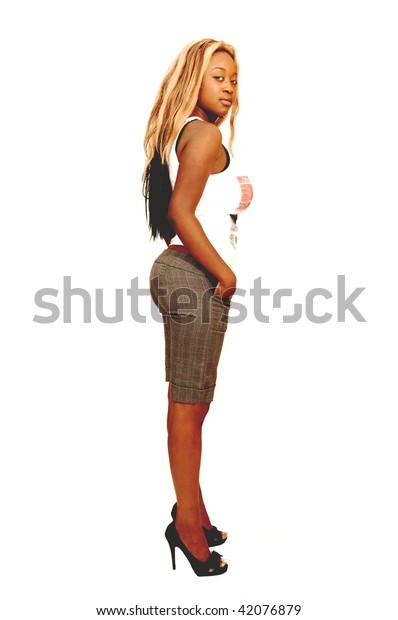 Hot botty big ass ebony teen African American Girl Big Bust Butt Stock Photo Edit Now 42076879