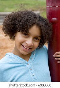 african american girl at the park
