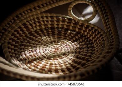 African american handmade bread basket