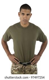 African American male serviceman