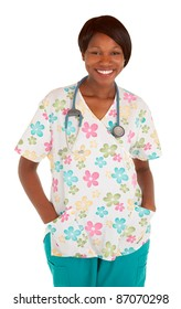 African American Nurse Smiling at the Camera