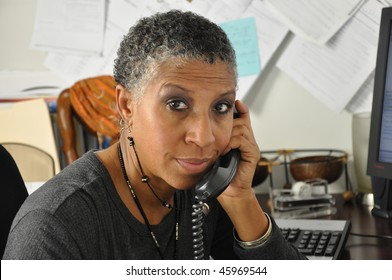 African American Professional Looking at you