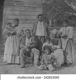 African American slave family representing five generations all born on the plantation of J. J. Smith, Beaufort, South Carolina.