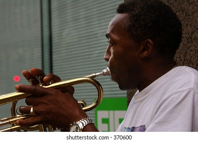 African American street musician, Minneapolis