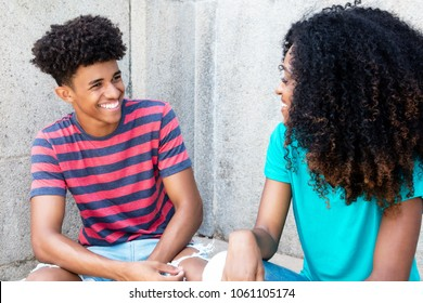African american teens have fun outdoors in summer