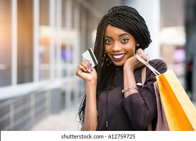 african american woman shopping