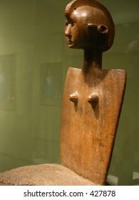african art high back stool chair
