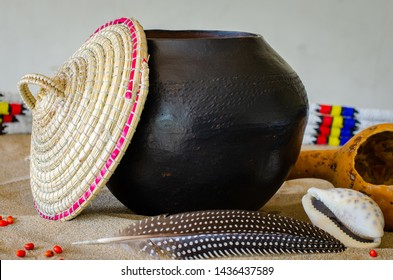 """African beer, referred to as """"utshwala"""" in Zulu, is brewed from mealie meal and drunk out of a clay drinking vessel called an """"ukhamba""""."""