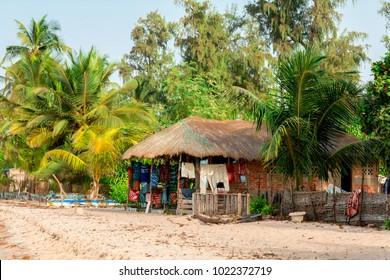 African bungalow in Carabane Island, Senegal