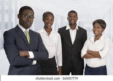 African Business Team, Studio Shot