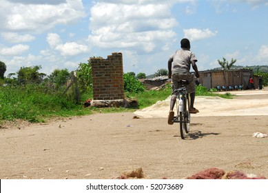 African child cycling