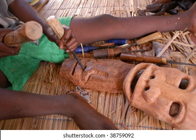 African child sculptor