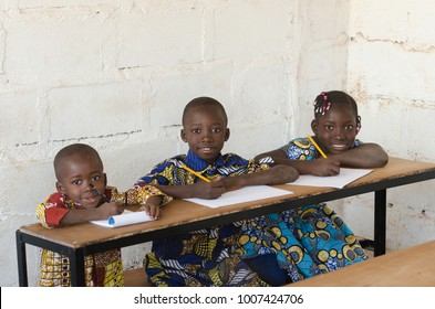 African children smiling at School