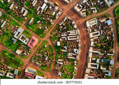 African city from above