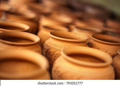 African clay pots from Tamaha pottery in Botswana