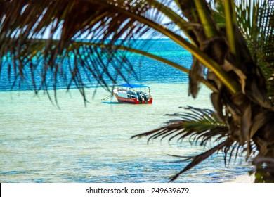 African coastline near Mombasa, Kenya