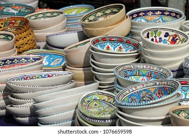 a lot of African crockery
