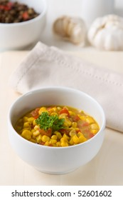 African Curry made from corn, coconut milk and paprika.