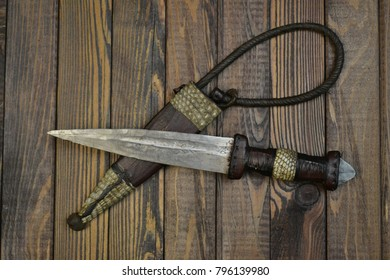 African dagger of tuareg nomads, islamic