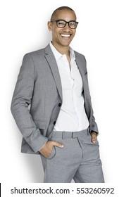 African Descent Business Man Smiling