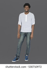 African Descent Man Male Studio Concept