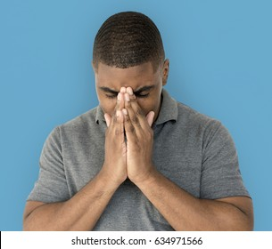 African desent is feeling blue stressed upset