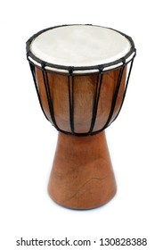 African djembe drum isolated on white background