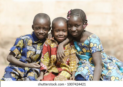 African Family Boys and Girls Smiling Laughing in Africa