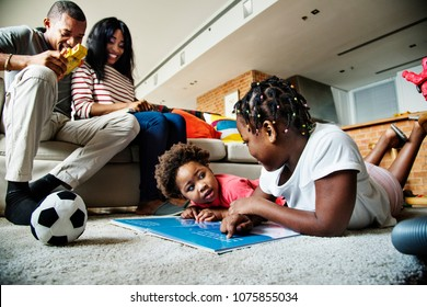 African family spending quality time together