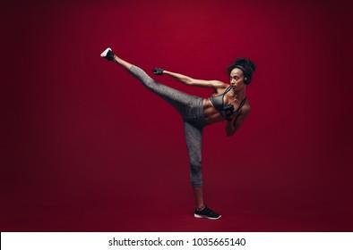 Imágenes, fotos de stock y vectores sobre Martial Arts Kicks