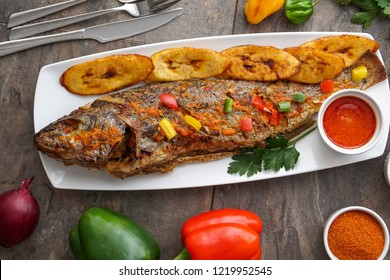 African Fish Dish Nigerian Food Grilled Fish