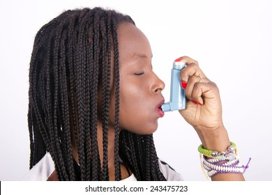 african girl asthmatic
