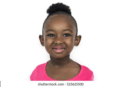 African Girl Kid Adorable Cute Playful Portrait Concept