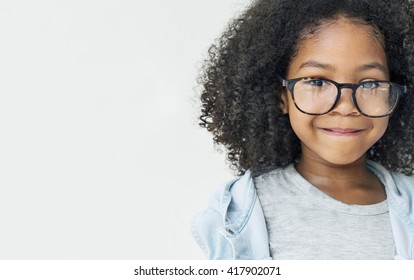African Girl Smiling Fun Happiness Retro Concept