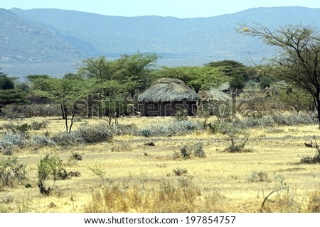 African House Made Mud Straw Kenya Stock Photo Edit Now 197854757