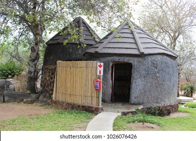 African huts on a game farm