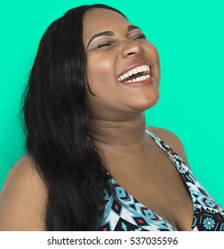 African Lady Laughing Studio Concept