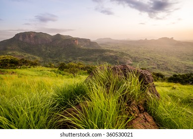 African landscape from the top of the mountain
