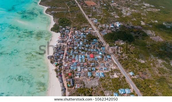 african local settlement at jambiani, Zanzibar