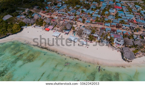 african local settlement at jambiani, Zanzibar